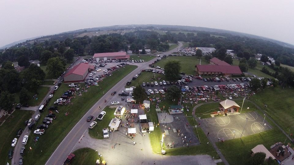 View of Goreville Park from above.